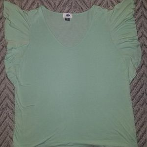 Mint green short sleeved dress shirt from Old Navy